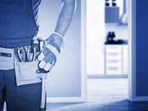 Handyman ready for work Royalty Free Stock Photo