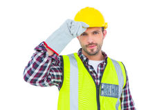 Handyman with reflecting clothes Royalty Free Stock Photos