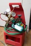 Handyman repairman HVAC tools Stock Images