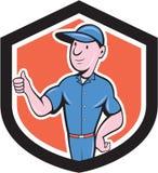 Handyman Repairman Thumbs Up Cartoon Royalty Free Stock Image