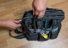 Handyman repairman tools Royalty Free Stock Photo