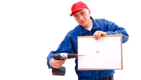 Handyman 's plans Royalty Free Stock Image
