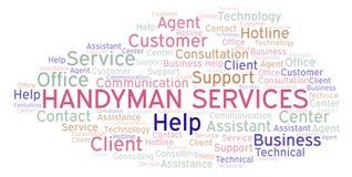 Handyman Services word cloud. stock illustration