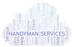 Handyman Services word cloud. vector illustration