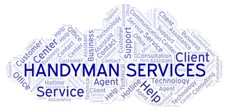 Handyman Services word cloud. Wordcloud made with text only vector illustration
