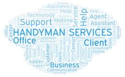 Handyman Services word cloud. royalty free illustration