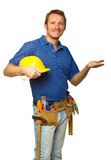 Handyman show gesture Royalty Free Stock Photography