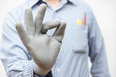 Handyman showing okay sign Stock Image