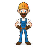 Handyman Smiling and Posing Stock Images
