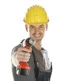 handyman som är klar att fungera royaltyfria foton