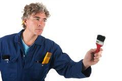 Handyman som är klar för jobbet arkivfoto