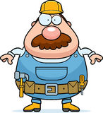 Handyman Standing. A cartoon handyman with a mustache standing Royalty Free Stock Images