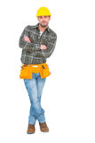 Handyman standing arms crossed Royalty Free Stock Photos