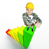 Handyman on stat Royalty Free Stock Photo