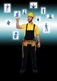 Handyman and  technology Stock Image