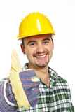Handyman thumb up Stock Photography