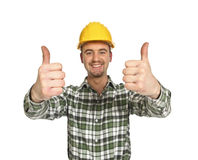 Handyman thumbs up Royalty Free Stock Photo