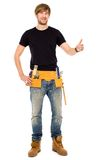 Handyman with thumbs up Stock Images