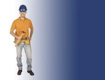 Handyman and tool Stock Image