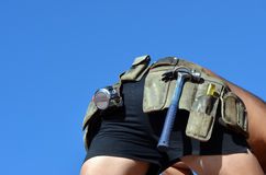 Handyman tool belt Stock Photos