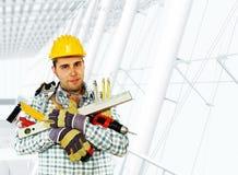 Handyman and tools Stock Photo