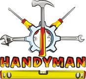 Handyman - tools. Do it yourself, hardware tools, tools icon, handyman tools Stock Images
