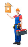 Handyman with tools full portrait Stock Images