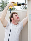 Handyman Using Power Drill Stock Images