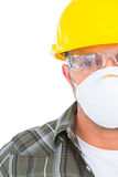 Handyman wearing protective work wear Stock Image