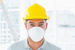 Handyman wearing protective workwear at site Stock Photography