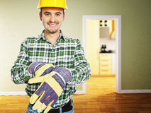 Handyman at work royalty free stock photo
