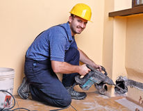 Handyman at work Stock Images