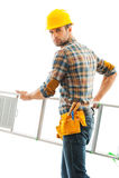 Handyman at work. Royalty Free Stock Image