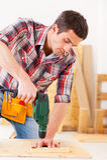Handyman at work. Stock Images