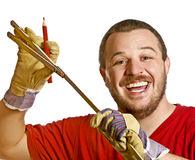 Handyman and work  instrument Royalty Free Stock Photos