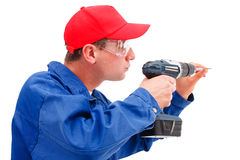 Handyman working Stock Photography
