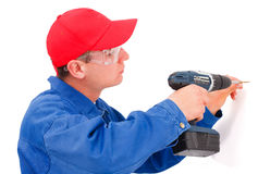 Handyman working Royalty Free Stock Photos