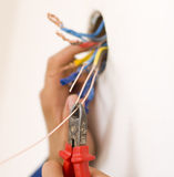 Handyman working closeup Royalty Free Stock Photography