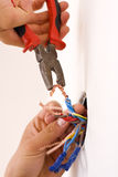 Handyman working closeup Royalty Free Stock Image