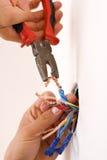 Handyman working closeup Royalty Free Stock Image