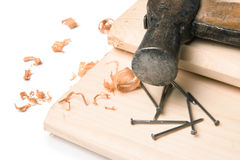 Handyman workplace stock photos