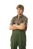 Handyman in workwear Stock Images