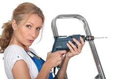 Handywoman Stock Photo