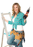 Handywoman at work Stock Photo