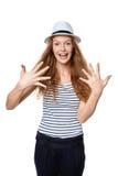 Handzählung - zehn Finger Lizenzfreie Stockfotografie