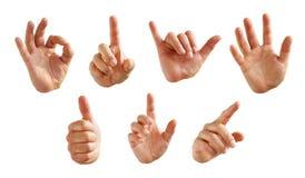 Handzeichen stockbild