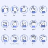 Handzeichen lizenzfreie stockbilder