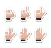 Handzeichen als die Kennsätze gelten - getrennt worden lizenzfreie abbildung