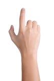 Handzeichen-Lageklicken lokalisiert Stockfoto