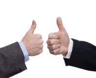 Handzeichen lokalisiert auf weißem Hintergrund Stockbild